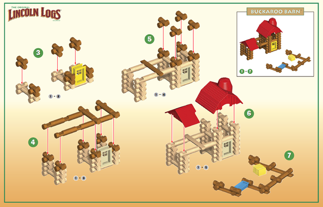 pictorial instructions for lincoln logs